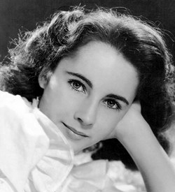 An early studio shot of Elizabeth Taylor