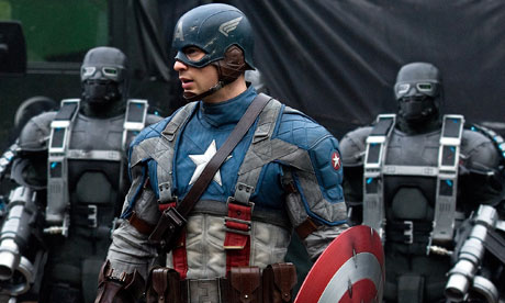 Chris Evans as Cap in Captain America: The First Avenger