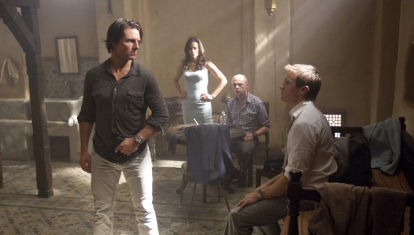 Tom Cruise, Paula Patton, Simon Pegg and Jeremy Renner in Mission Impossible - Ghost Protocol