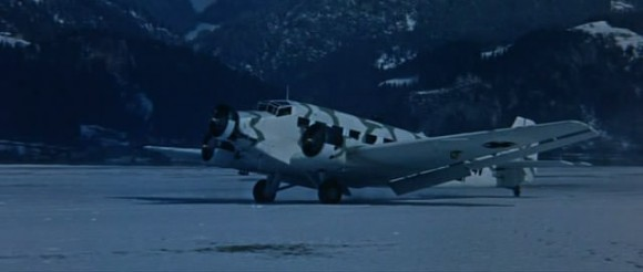 A Harvard plane dressed up to look like a German plane in Where Eagles Dare