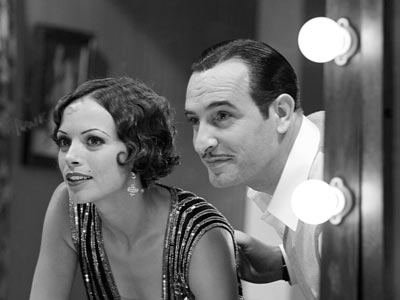 Berenice Bejo as Peppy and Jean Dujardin as George in The Artist