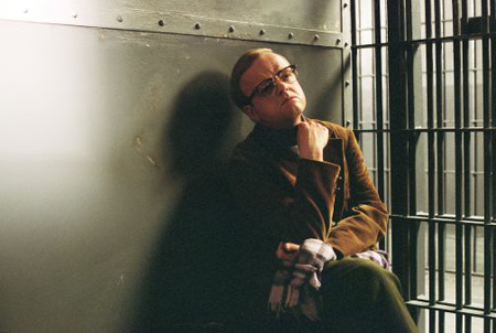 Toby Jones as Truman Capote in Infamous