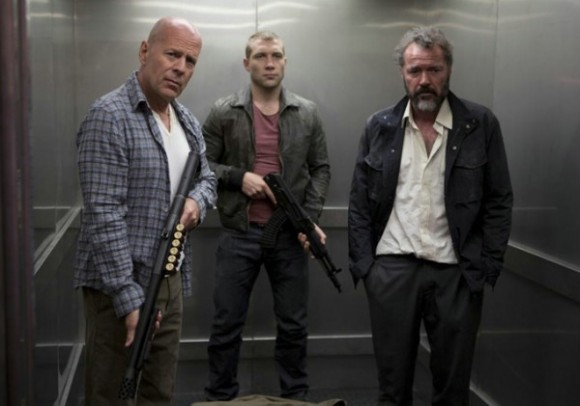 Bruce Willis Jai Courtney and Sebastian Koch in A Good Day to Die Hard
