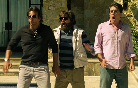 Bradley Cooper, Zach Galifianakis, and Ed Helms in The Hangover Part III