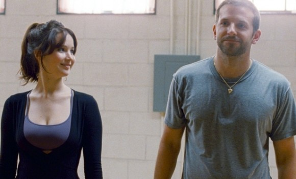 Jennifer Lawrence as Tiffany and Bradley Cooper as Pat in Silver Linings Playbook