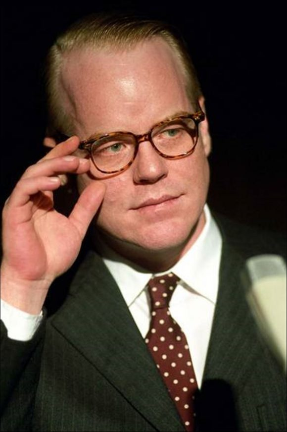Philip Seymour Hoffman as Truman Capote in Capote