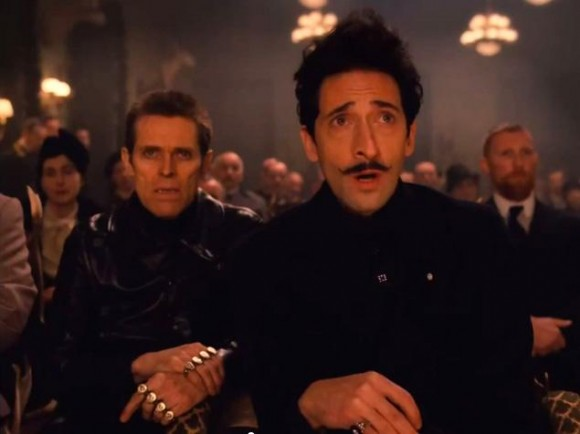 Willem Dafoe and Adrien Brody in The Grand Budapest Hotel