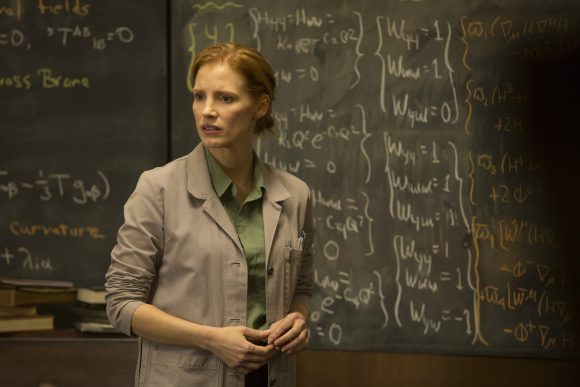 Jessica Chastain as the older Murph in Interstellar