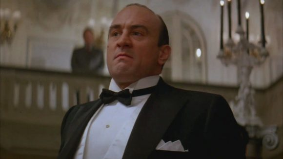Robert De Niro is Al Capone in The Untouchables