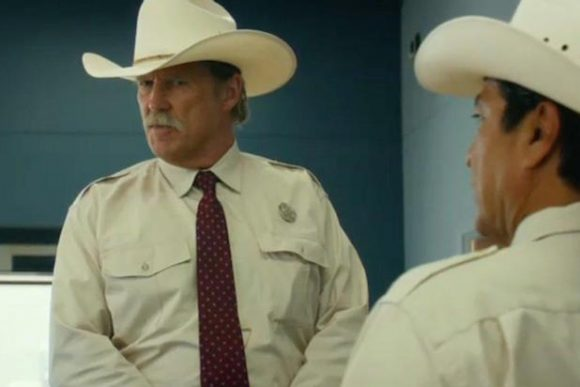 Jeff Bridges is Texas Ranger Marcus Hamilton with Gil Birmingham in Hell or High Water