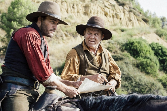Joaquin Phoenix and John C. Reilly in THE SISTERS BROTHERS